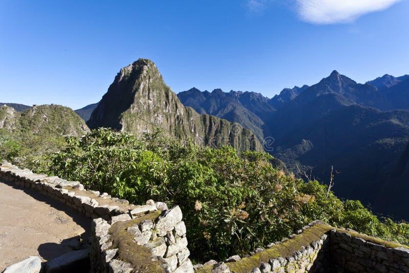 在马丘比丘,秘鲁的清早 免版税图库摄影