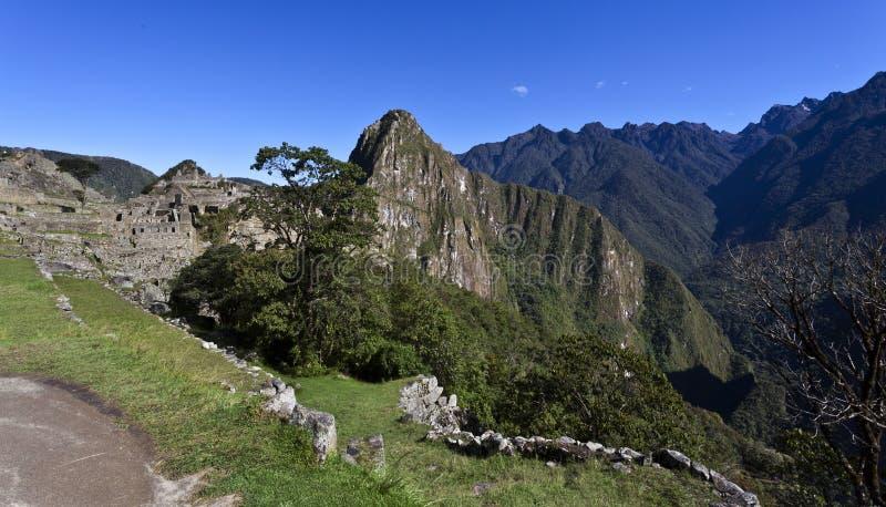 在马丘比丘,秘鲁的清早 免版税库存照片