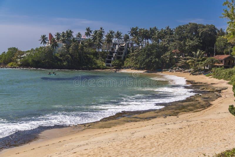 在马塔勒,斯里兰卡的海滩 库存图片