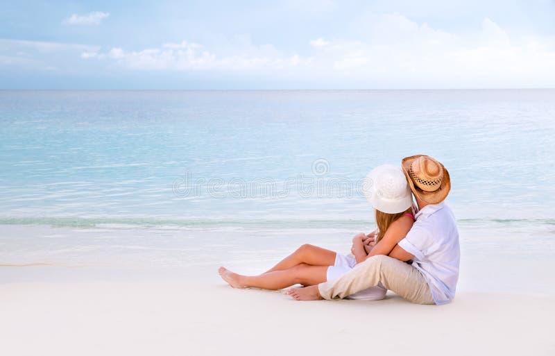 在马尔代夫的蜜月 免版税库存照片