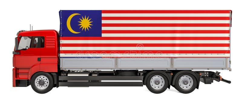 在马来西亚概念,3D的货物交付翻译 向量例证