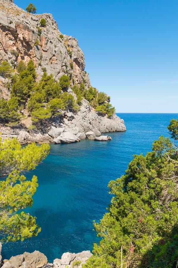 在马略卡海岛,西班牙上的Sa Calobra 库存照片