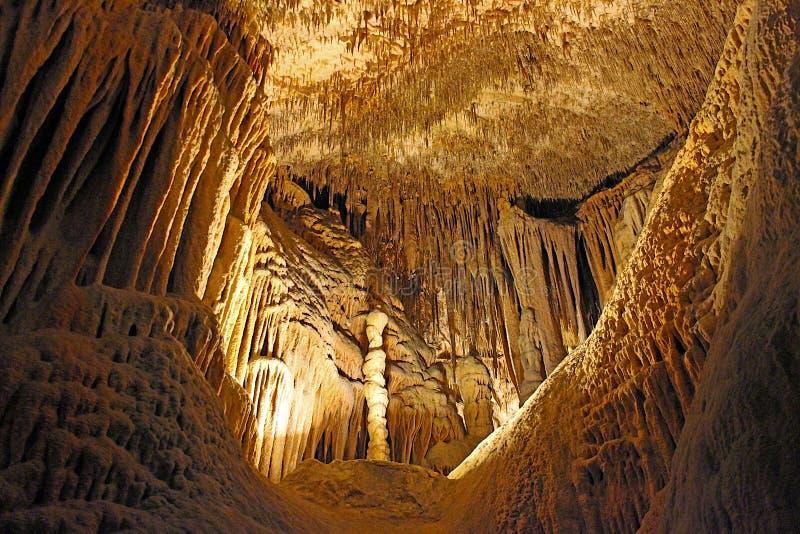在马略卡的龙洞 库存图片
