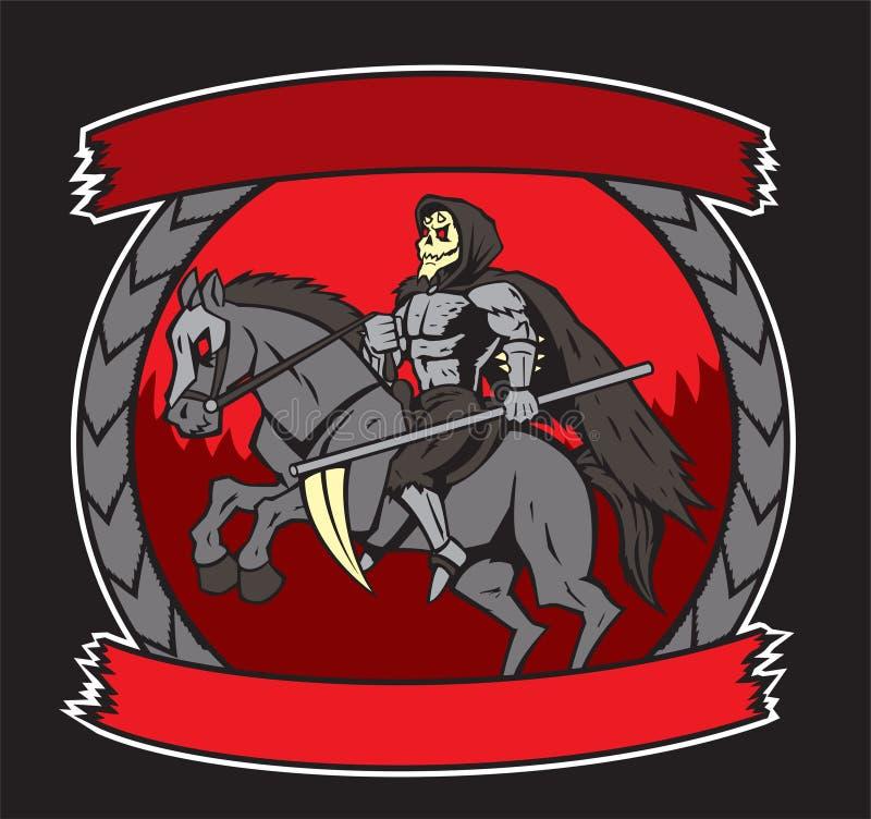 在马的死亡 向量例证