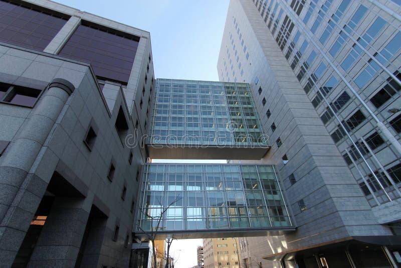 在马约诊所的多层的skyways 库存照片