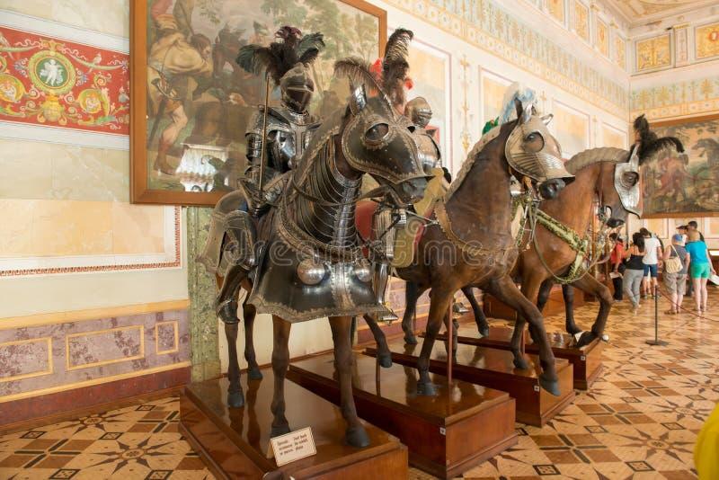 在马背上骑士 库存照片