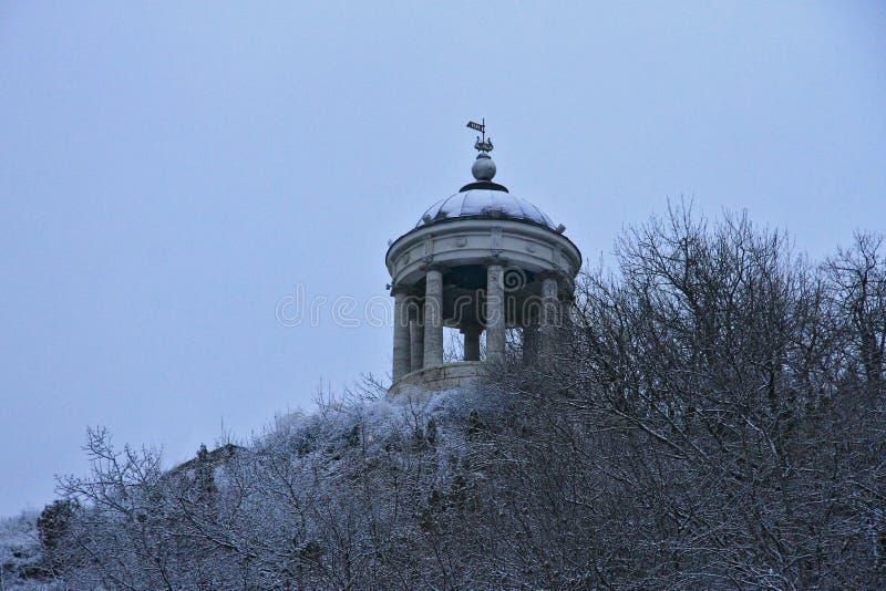 在马舒克山的Aeolus竖琴在冬天 五山城Landmar 库存图片