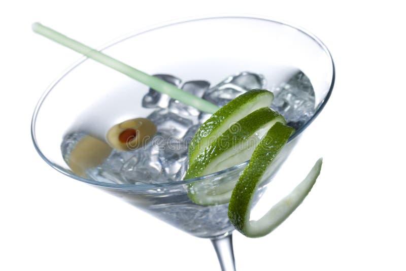 在马蒂尼鸡尾酒的伏特加酒 免版税库存图片