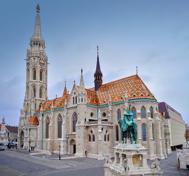 在马赛厄斯教会的看法 免版税图库摄影