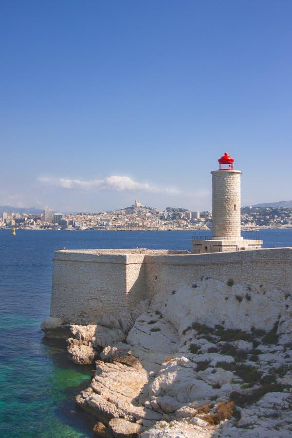 在马赛,法国的看法 免版税库存图片