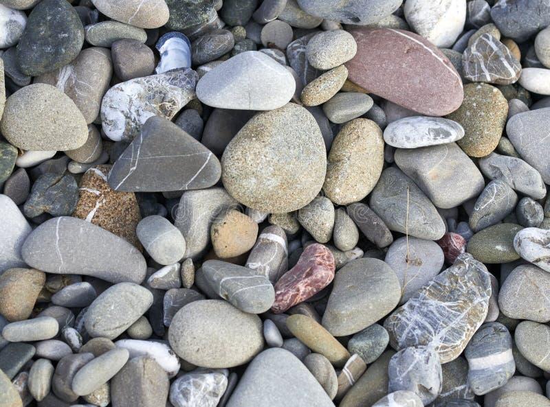 在马里内拉海滩的石头在利古里亚 库存照片