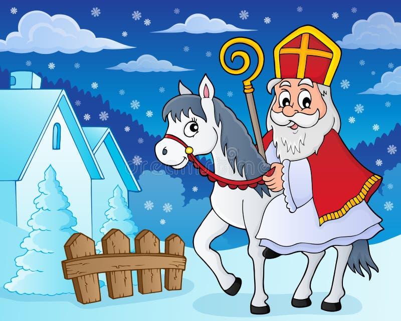 在马题材图象5的Sinterklaas 向量例证