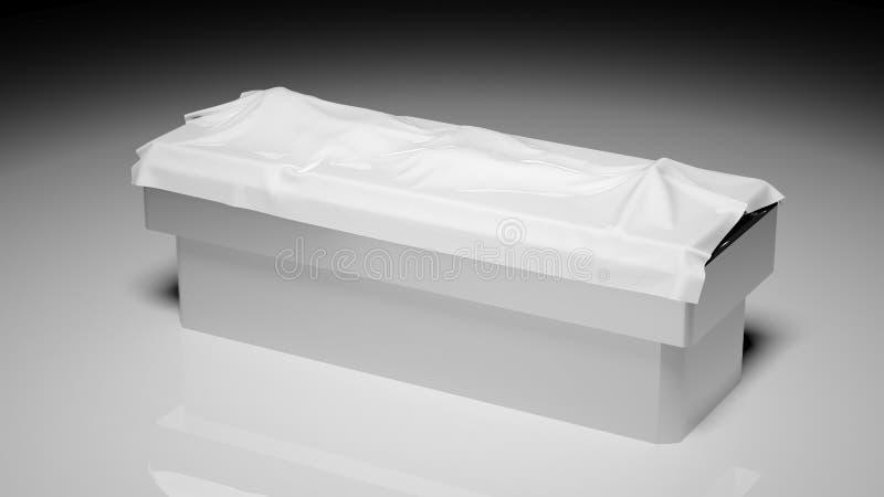 在验尸桌上的尸体 向量例证