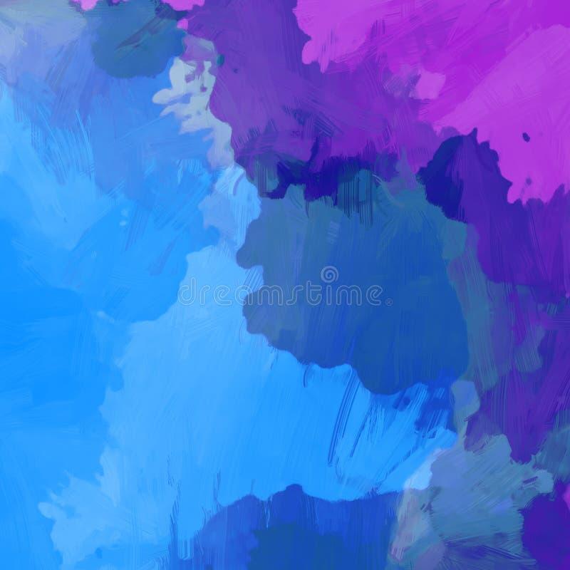 在高分辨率的抽象五颜六色的水彩背景 库存例证