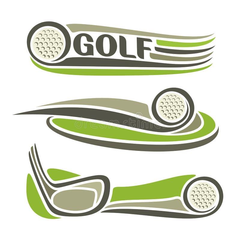在高尔夫球题材的图象 向量例证