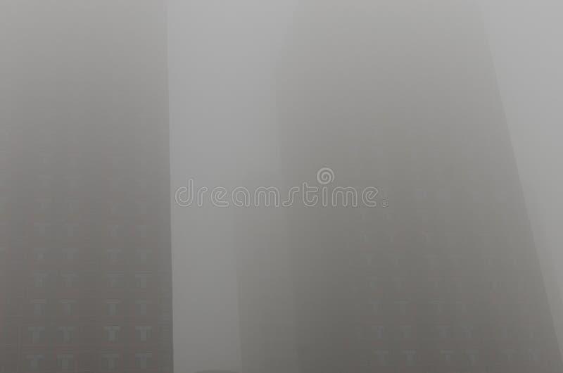 在高层的雾 图库摄影