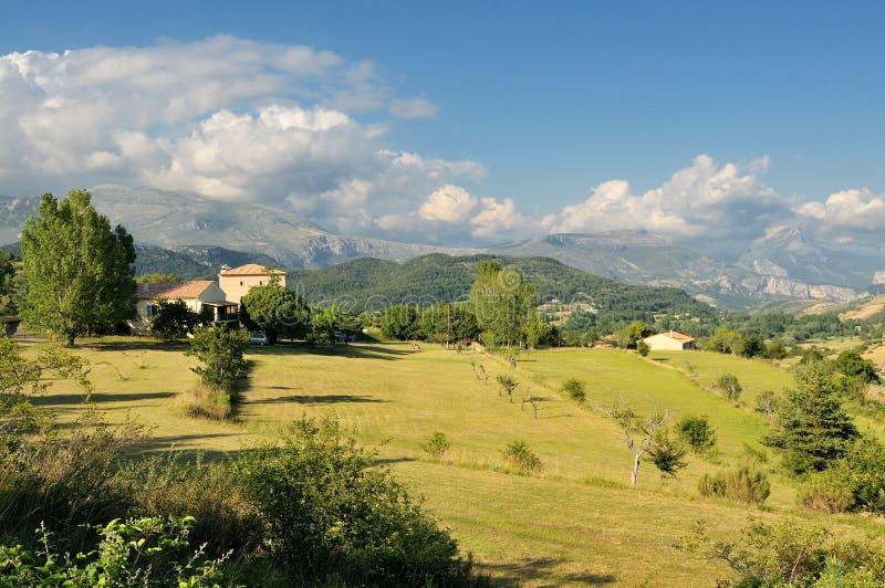 法国阿尔卑斯乡下 图库摄影