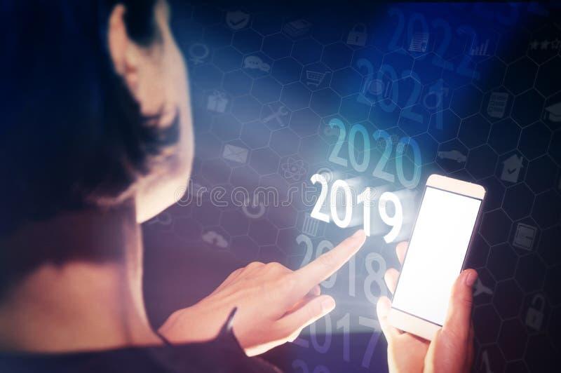 在高科技的新的2019年 免版税图库摄影
