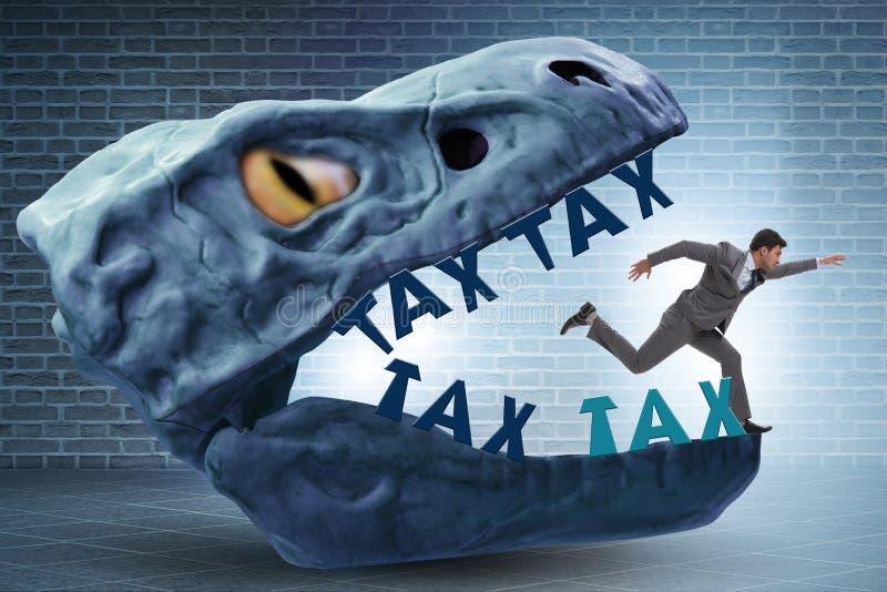 在高税金的下颌的商人 免版税图库摄影