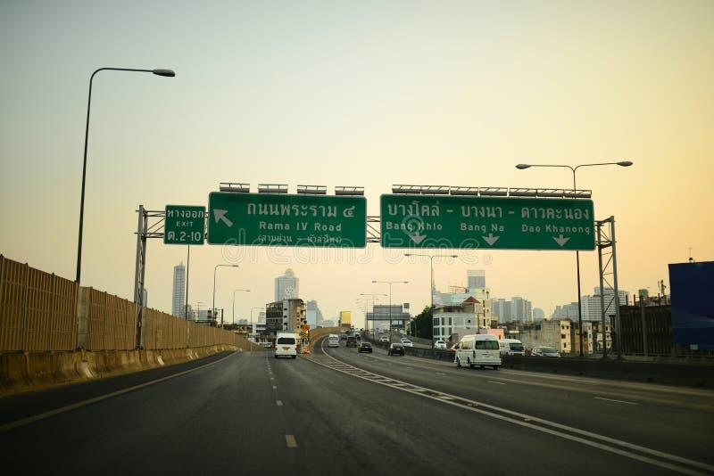 在高速公路的交通 库存照片
