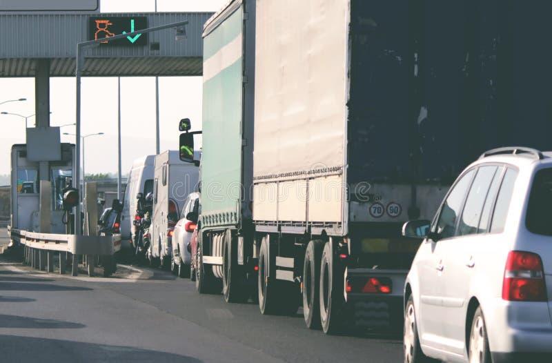 在高速公路的关门 免版税图库摄影