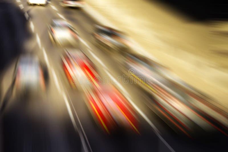在高速公路的种族 免版税库存照片