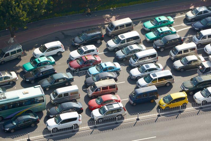 在高速公路的通信拥塞 免版税库存图片