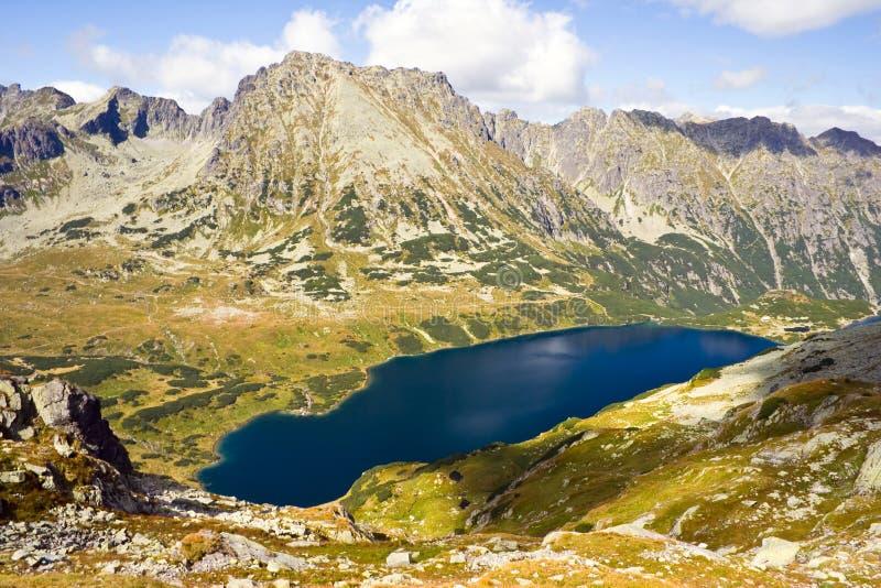 在高Tatra山的5个湖谷 免版税图库摄影