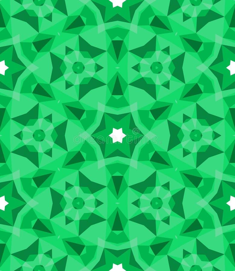 在鲜绿色的多色几何样式。 向量例证