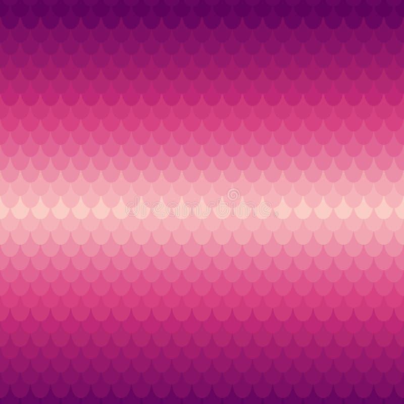 在鳞或瓦片样式的背景 库存例证