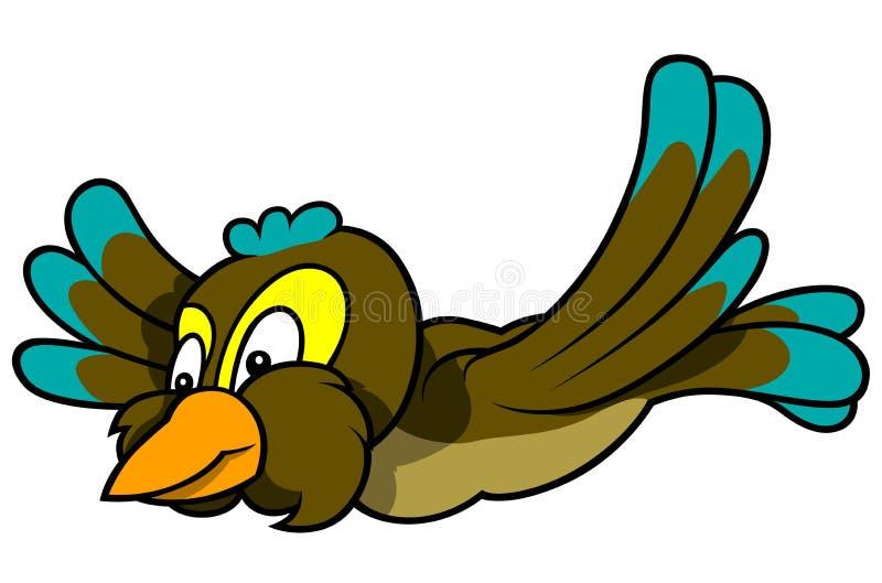 在鸟黑暗的飞行海洋之上开张海鸥翼 库存例证