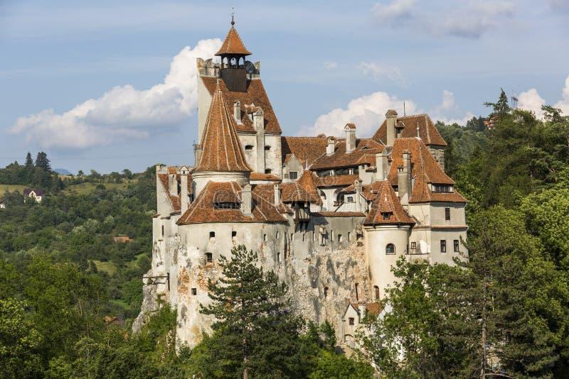 在麸皮的德雷库拉城堡 免版税库存照片