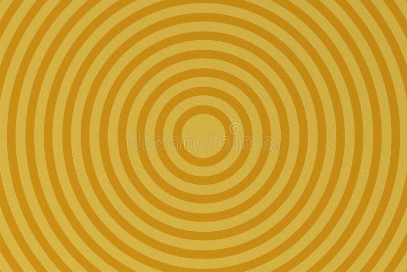 在黄色背景的抽象圈子形状 皇族释放例证