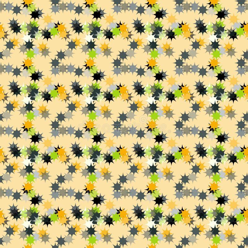 在黄色背景的抽象星 皇族释放例证