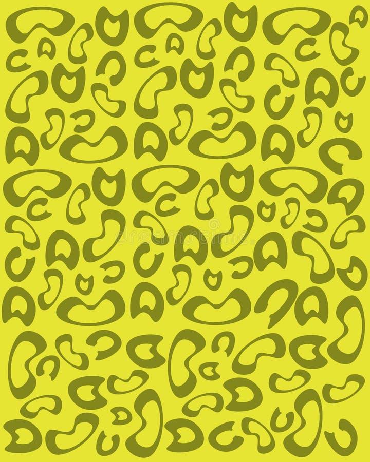 在黄色背景的豹子印刷品 向量例证