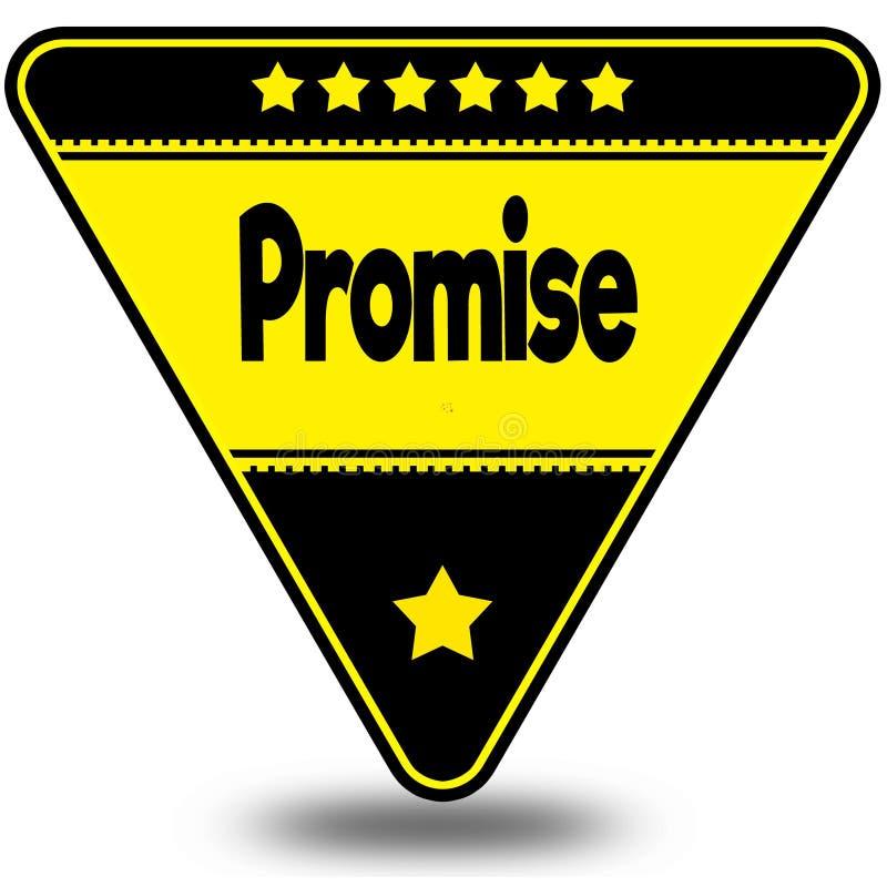在黑和黄色三角的诺言与阴影 向量例证