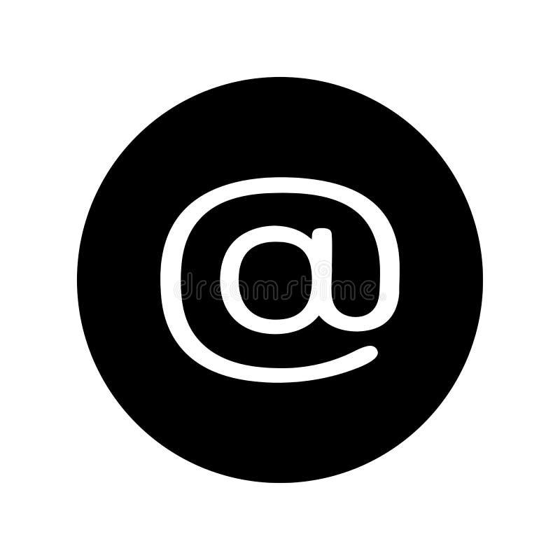 在黑圈子的电子邮件象 e互联网发送符号符号的邮件消息 向量例证