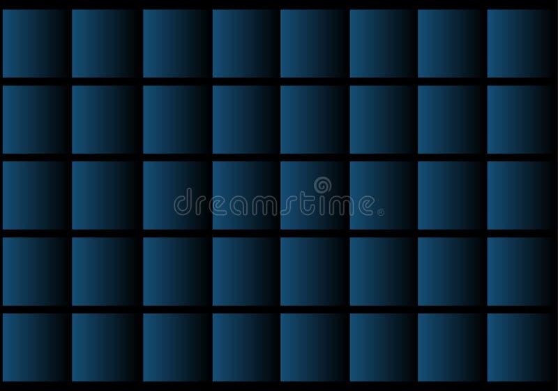 在黑抽象背景的蓝色形状 免版税库存照片