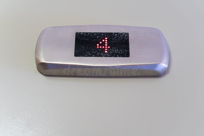在黑显示器显示的第四与金属表面无光泽的镀铬物框架 图库摄影