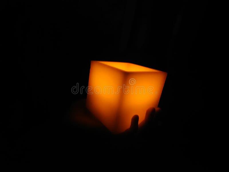 在黑暗的光 免版税图库摄影
