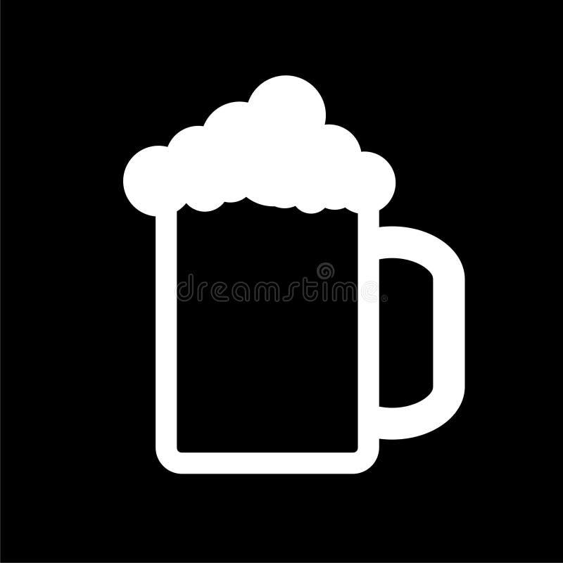 在黑暗的背景的啤酒象 皇族释放例证