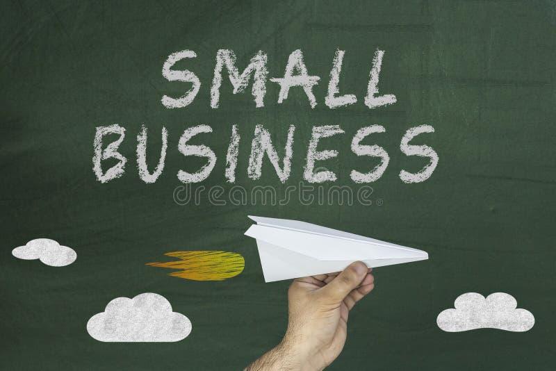在黑板的小企业概念 财务事务 库存照片