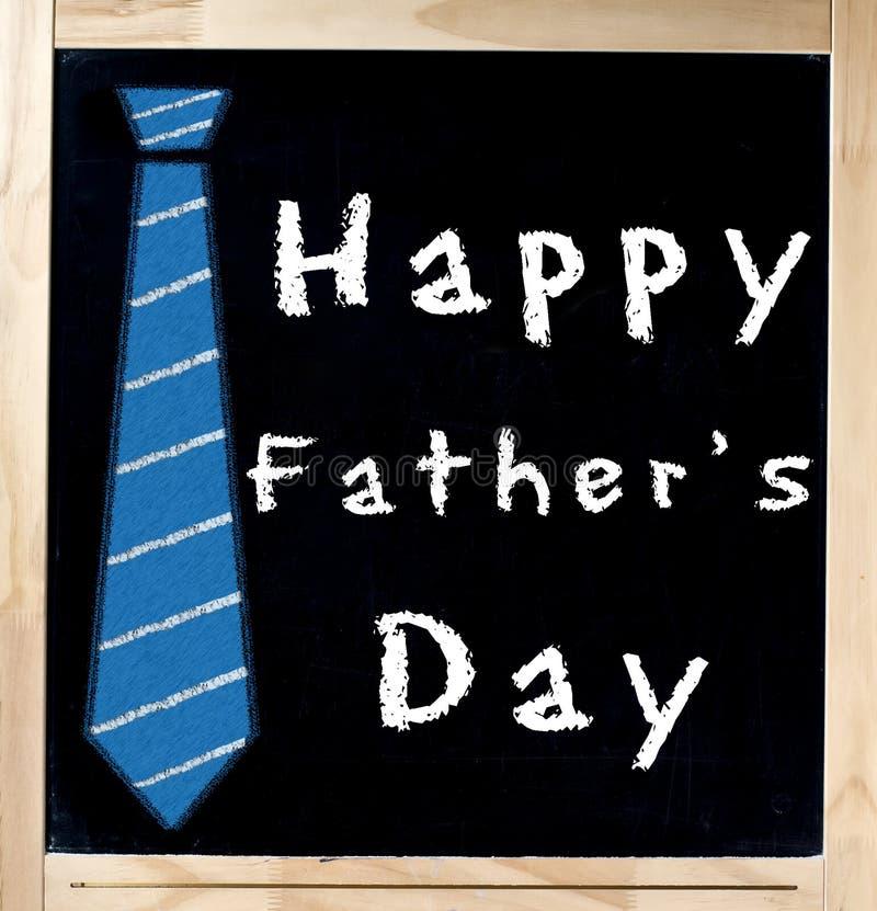 在黑板的愉快的父亲s日 库存照片