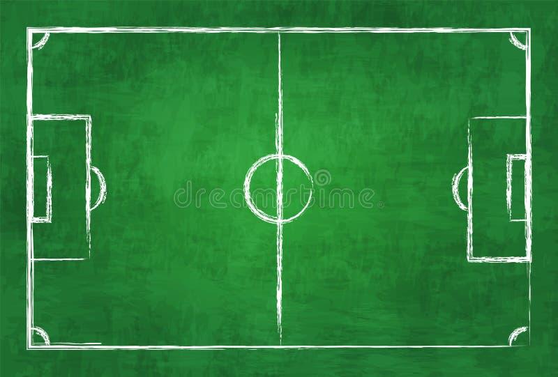 在黑板纹理背景的现实例证橄榄球或足球场 国际世界冠军游览的图象 皇族释放例证