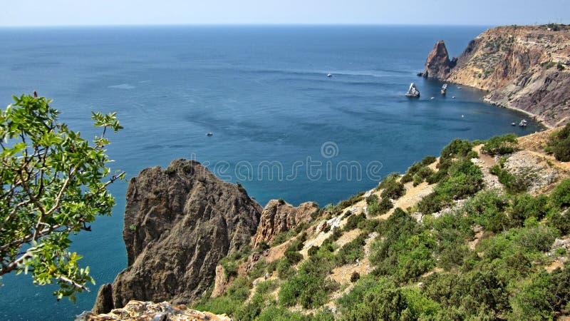 在黑海海岸的海角Fiolent 免版税图库摄影