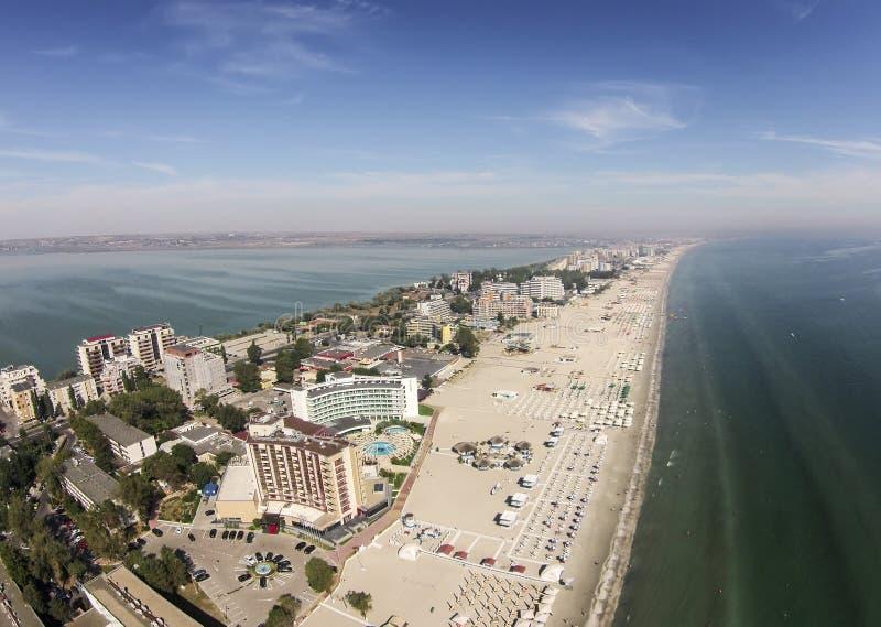 在黑海海岸的Mamaia,罗马尼亚 库存图片