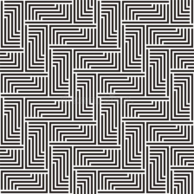 在黑白之字形的模式 皇族释放例证