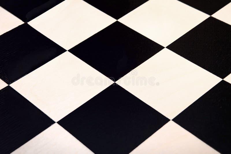 在黑白方格的纹理的顶视图 免版税库存照片