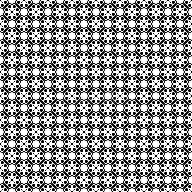 在黑白的抽象几何无缝的样式,传染媒介 设计,工业 向量例证