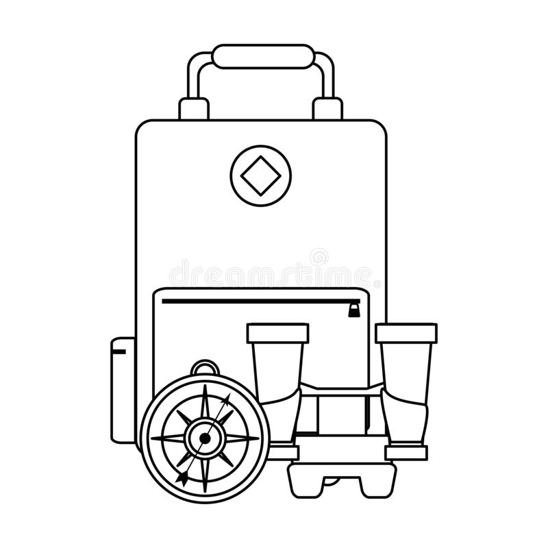 在黑白的旅行和假期标志 皇族释放例证
